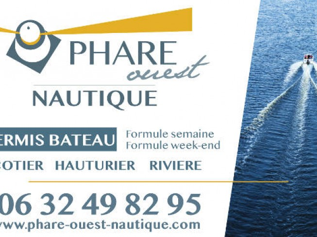 phare ouest nautique permis bateau mer riviere rund um das wasser frankreich pays de la loire. Black Bedroom Furniture Sets. Home Design Ideas